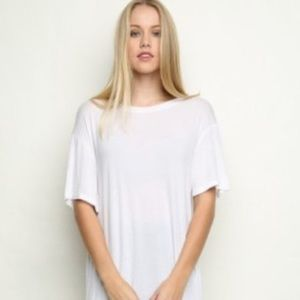 NEW Free People We The Free Oversized White Top